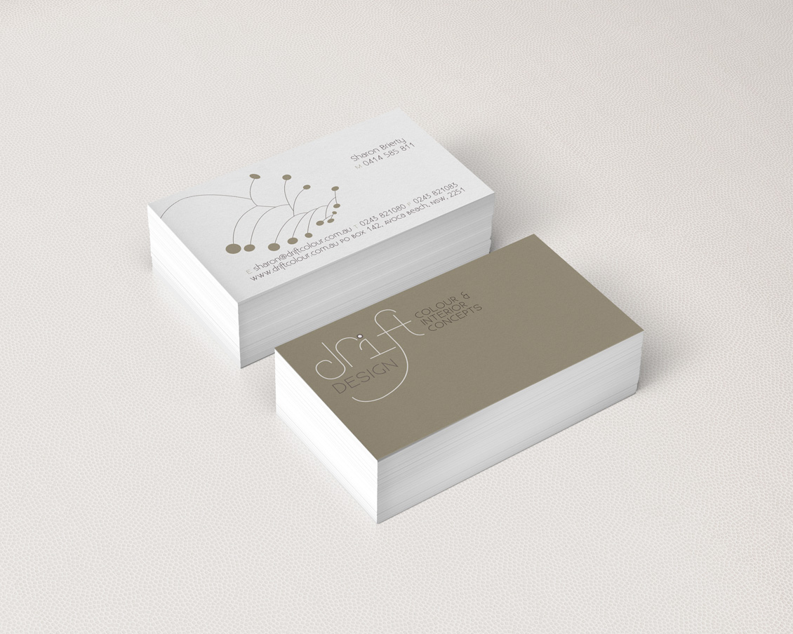 Drift Colour Business Cards