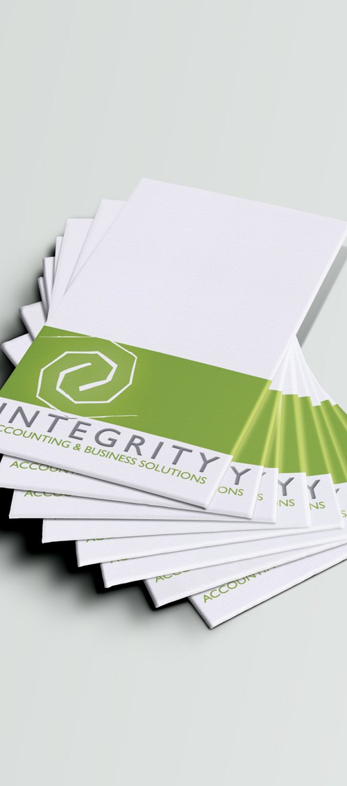 Integrity Accounting and Business Solutions Business Cards