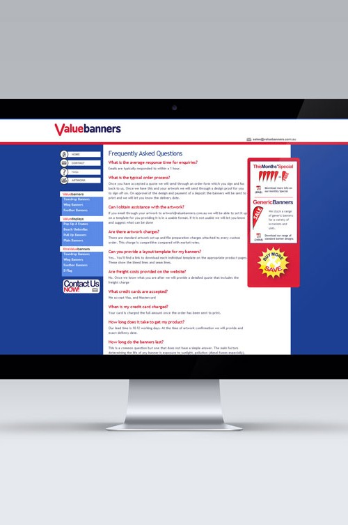 Value Banners Website